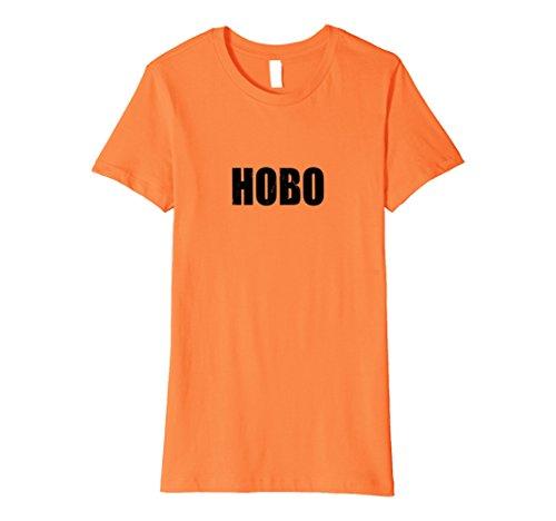 Womens Hobo Halloween Costume Party Cute & Funny T shirt Medium Orange - Hobo Costume For Women