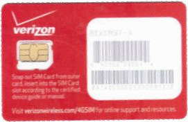 Brand New Verizon Wireless Micro 4G LTE Certified NFC SIM Card  3FF