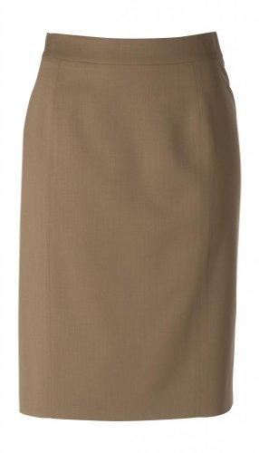 woolmaster Women's Seasonless Wool Pencil Skirt 12 Dark Camel