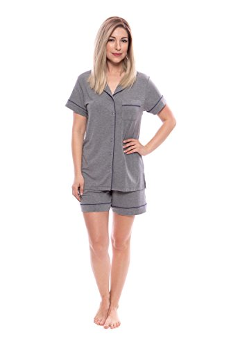 Texere Women's Shorts Pajama Set (Classic Dream, Heather Gray, M) Mother's Day