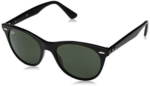 Ray-Ban RB2185 Wayfarer II Sunglasses, Black/Green, 52 mm (Ray Ban Aviator Wayfarer)