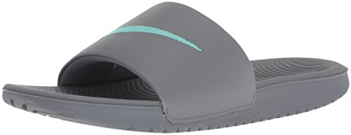NIKE Women's Kawa Slide Sandal, Hyper Turquoise/Cool Grey, 1