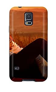 Premium Tpu Love Romance People Sunset Couple Cover Skin For Galaxy S5