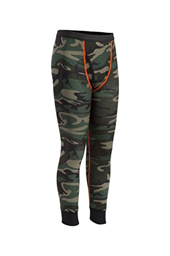 Indera Youth Thermal Underwear Pant, Camo, Large