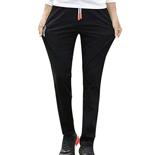 Allywit Men Cotton Straight Pocket Elastic Drawstring Trousers Long Pants Plus Size by Allywit-Pants (Image #7)