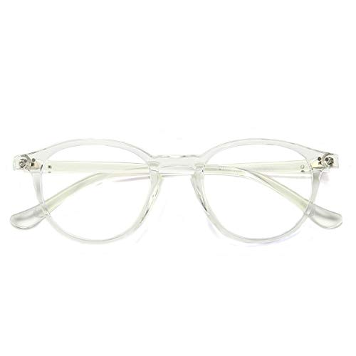 Blue Light Blocking Glasses Vintage Round Frame Eyeglasses for Women Men ()