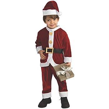 Amazon.com: Disfraz de Papa Noel para niños, S, Un ...