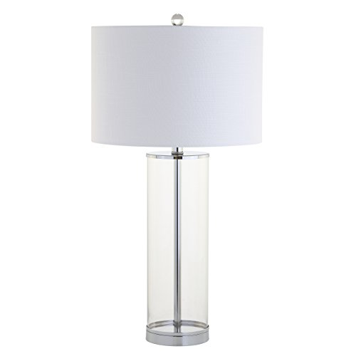 JONATHAN Y JYL2004A Harper Glass Table Lamp, Clear/Chrome