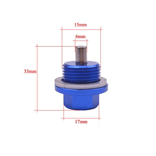 Daphot Store - M181.5 Magnetic Oil Sump Nut Aluminum Bolts Drain Oil Plug Screw Oil Drain Nut Engine Nut
