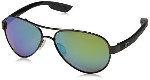 Costa Del Mar Loreto Sunglasses Gunmetal w/Black/Green Mirror - Loreto Costas