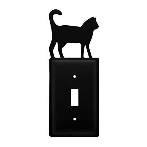 Iron Cat Switch Cover - Black Metal by Iron Works by Iron Works (Image #1)