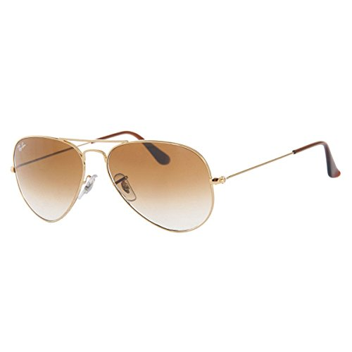 Ray-Ban RB3025 Aviator Sunglasses, Gold/Brown Gradient, 62 - Brown Frame Ban Ray
