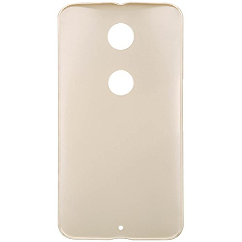 Unismart® Nillkin Super Frosted Shield Matte Hard Case Cover Shell Pack of Screen Protector Film Compatible for Google Motorola Nexus 6 (Golden)