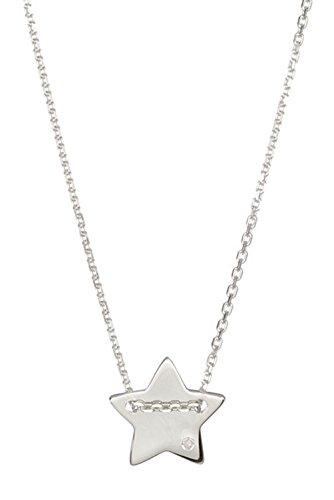 Sterling Silver and Diamond Star Necklace (Silver Sterling Necklace Star Diamond)