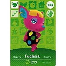 (Nintendo Animal Crossing Happy Home Designer Amiibo Card Fuchsia 123/200 USA Version)
