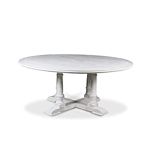 Inch Round Dining Table Amazoncom - 72 round glass dining table