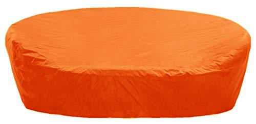 KaufPirat Premium Abdeckplane Rund Ø 140x85 cm Orange Gartenmöbel Gartentisch Abdeckung Schutzhülle Abdeckhaube Outdoor Round Patio Table Cover
