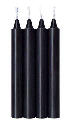 Icon Brands - The 9's, Make Me Melt Sensual Warm-Drip Candles, 4 Pack, Red Hot, BDSM Wax Play Candles by Icon Brands