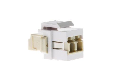 Keystone Snap in LC Fiber Module, White,