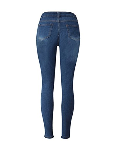 Vita Donna Jeans Alta Blu Da Skinny marino Denim Jeans Jeans Pantaloni 7dgRqwg