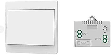 iluminaci/ón y aparatos el/éctricos control remoto inal/ámbrico a prueba de agua y seguro sin bater/ía sin cables se puede colocar directamente en el ba/ño Interruptor inal/ámbrico auto alimentado