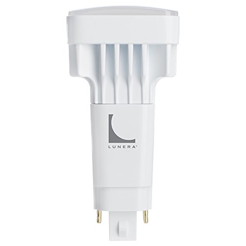 Lunera G24Q 4-Pin Vertical CFL LED Dimmable Light Bulb, 11W, 1350 Lumen, 4000K CCT, Ballast Driven, 4th Generation, Plug-and-Play 4-pin Compact Fluorescent Lamp Replacement (Tube Quad Plug)
