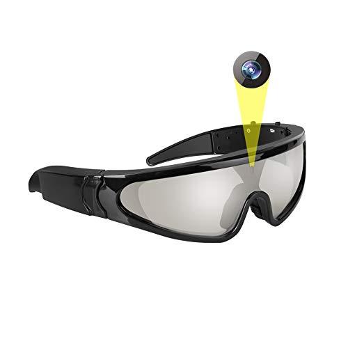 JAYLONG Gafas de Sol Inteligentes, 1080P HD grabación/vídeo/cámara/Foto con 5 milion píxeles para Ciclismo, Caza, Pesca…