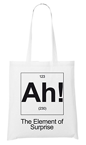 AH! The Element Of Suprise Bag White