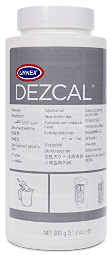 (Urnex Dezcal Coffee and Espresso Machine Descaler Activated Scale Remover - 900g Bottle - Fast Effective Descaling Of Boilers and Heating Elements Faucets Spray Heads Milk Systems)
