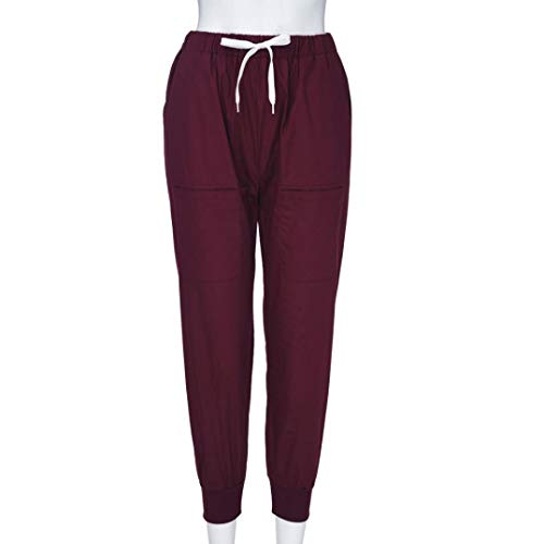 de Yoga Cintura Cordón Media Alta de Vaqueros Fitness Ocio Pantalones Cintura Boho de Pantalones Rojo Jeans Cintura ASHOP sólida Leggings Impreso Estilo Mujer de Pantalón w4xRcqpB6