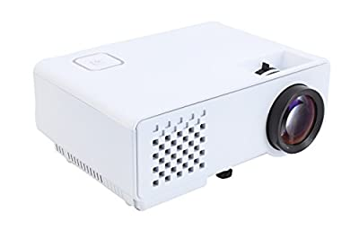 NEXGADGET Video Projector, RD-810 Series 1000 lumens LED 1080P Portable Multimedia Projector Home Cinema Theater,Support USB HDMI AV SD VGA White