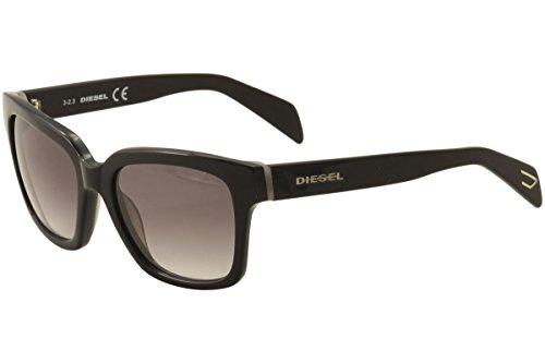 Diesel DL00735405C Wayfarer Sunglasses,Black,54 - Womens Diesel Sunglasses