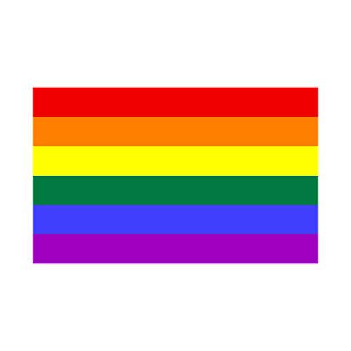 Bargain Max Decals - LGBT Rainbow Gay Pride Flag - Sticker Decal Notebook Car Laptop 4