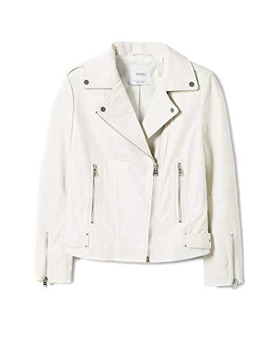 Zipper Donna Jacket 33050575 Leather Mango Biker v5Iwdvq