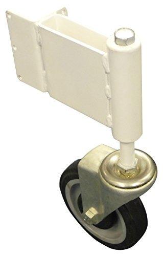 Spring Loaded Suspension (Spring Loaded Gate Caster Swivel Wheel LEFT SWING - Adjust-A-Gate Hard Rubber Swivel Gate Wheel with Suspension - Up to 125Lb Load Capacity by Adjust-A-Gate)