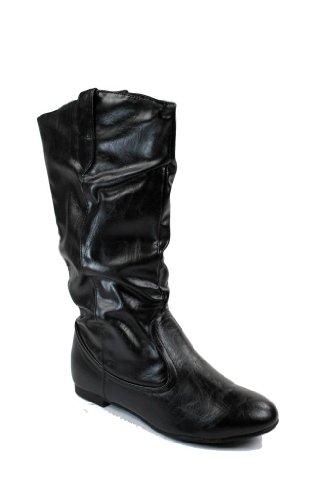 Max Chaussures Femmes Vivent Genou Haute Slouch Bottes Noir