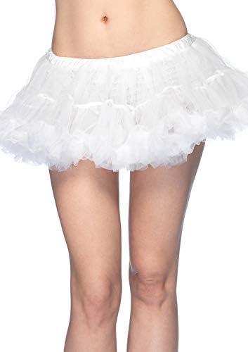 Leg Avenue Puffy Chiffon Mini white