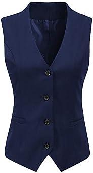 JYDress Women's Formal 4 Button V-Neck Business Dress Suit Vest Waist