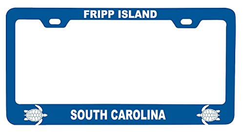 R and R Imports Fripp Island South Carolina Turtle Design Souvenir Metal License Plate Frame