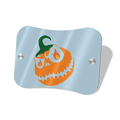 Anonymous Guest Door Sign Halloween Pumpkin Knock Softly Wood Decorative Sign5.57.5 in]()