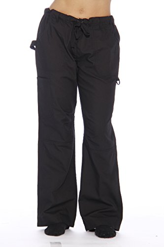 24000PBLK-28-S Just Love Women's Utility Scrub Pants / Scrubs (Halloween Scrubs)