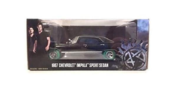 "GREENLIGHT 1//24 1967 CHEVROLET IMPALA SPORTS SEDAN /""SUPERNATURAL/"" 84032 Chase"