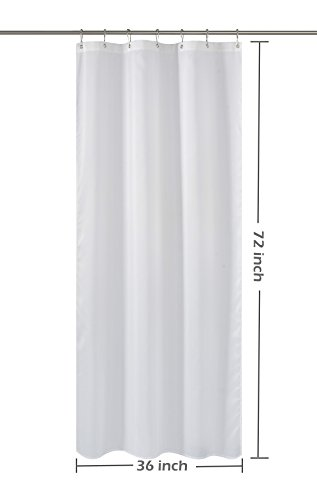 Eforcurtain 36Inch Wide By 72Inch Long Heavy Duty Shower Curtain Liner With Magnets 18 Gauge