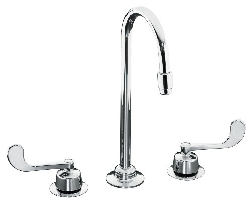 KOHLER K-7304-5A-CP Triton Widespread Lavatory Faucet, Polished Chrome