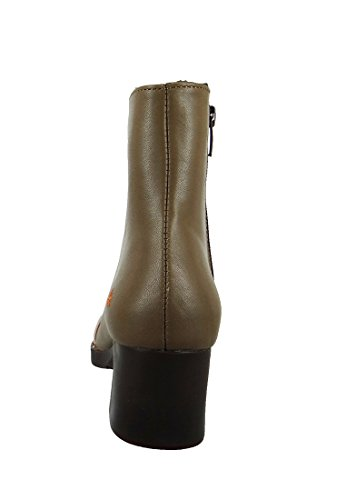 Cuero de Arte Botín Botas Bristol falda beige de Brown 0077, ART Schuhe Damen:40