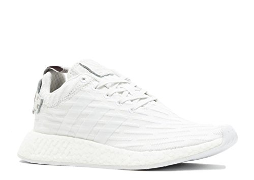 adidas Women's NMD_R2 Primeknit Running Shoes in Vintage White, 8.5