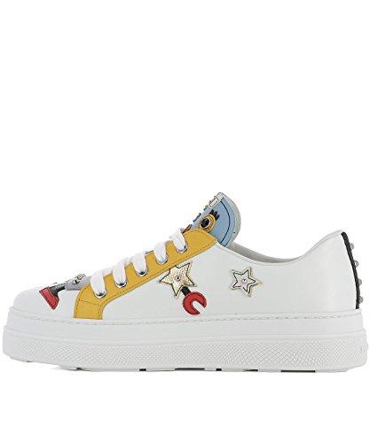 Prada Damen 1E461IF0453I9NF0009 Weiss Leder Sneakers
