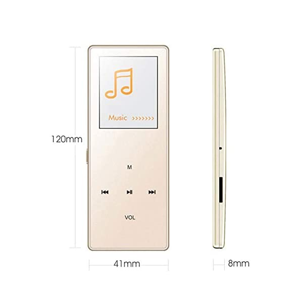 8G Bluetooth Mp3 Player 1.8 Inch Motion Capacitive Touch Mp4hifi Lossless Sound Quality Video Playback Pedometer Pink,Black 5