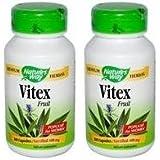 【2個セット】 [海外直送品] Nature's Wayヴィテックス(チェストツリー) 100粒 Vitex Fruit 400mg 100cap...