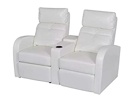 Fine Amazon Com New White 2 Seat Home Cinema Reclining Sofa Feet Gmtry Best Dining Table And Chair Ideas Images Gmtryco